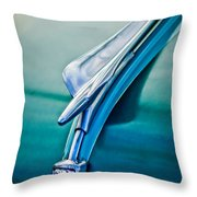1956 Fiat Hood Ornament 2 Throw Pillow by Jill Reger