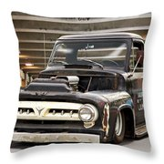 1956 Ford F100 'workingmans' Pickup I Throw Pillow