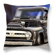 1956 Ford F100 'workingmans' Pickup II Throw Pillow