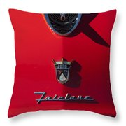 1956 Ford Fairlane Hood Ornament 2 Throw Pillow