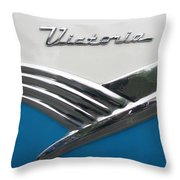 1956 Ford Peacock Blue Throw Pillow