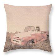 1956 Ford S120 International Truck Throw Pillow