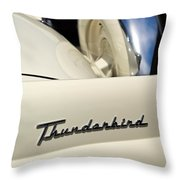 1956 Ford Thunderbird Spare Tire Throw Pillow