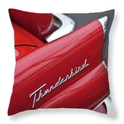 1956 Ford Thunderbird Taillight Emblem 2 Throw Pillow