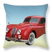 1956 Jaguar Xk 140 Mc Throw Pillow