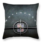 1956 Lincoln Continental Mark II Coupe Emblem -2079ac Throw Pillow