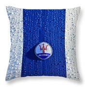 1956 Maserati 350 S Hood  Emblem 2 Throw Pillow