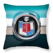 1956 Mercury Monterey Emblem Throw Pillow