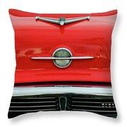 1956 Oldsmobile Hood Ornament 4 Throw Pillow by Jill Reger