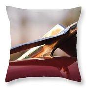 1956 Plymouth Belvedere Hood Ornament Throw Pillow