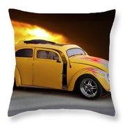1956 Vw 'hot Rod' Bug II Throw Pillow