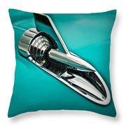 1957 Bel Air Hood Ornament Throw Pillow