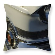 1957 Cadillac Front End Throw Pillow