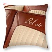 1957 Chevrolet Bel Air Seats Throw Pillow