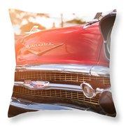 1957 Chevrolet Bel Air Sunset Throw Pillow