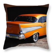 1957 Chevrolet Belair Coupe Throw Pillow