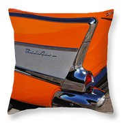 1957 Chevrolet Belair Coupe Tail Fin Throw Pillow