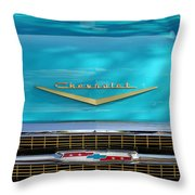 1957 Chevrolet Belair Grille 2 Throw Pillow