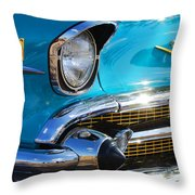 1957 Chevrolet Belair Grille Throw Pillow