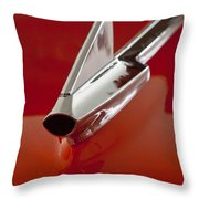 1957 Chevrolet Cameo Pickup Hood Ornament Throw Pillow