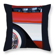 1957 Chevrolet Corvette Convertible Front End Throw Pillow