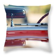 1957 Chevrolet Corvette Convertible  Throw Pillow
