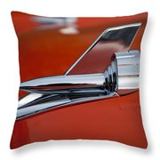 1957 Chevrolet Hood Ornament Throw Pillow