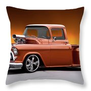 1957 Chevrolet Stepside Pickup L Throw Pillow