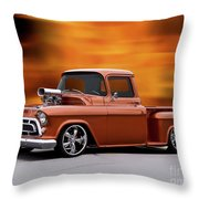 1957 Chevrolet Stepside Pickup Ll Throw Pillow
