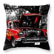 1957 Chevy Bel Air Throw Pillow