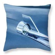 1957 Chevy Bel Air Hood Ornament Throw Pillow