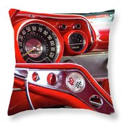 1957 Chevy Bel Air Stering Wheel  Throw Pillow