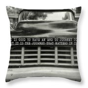 1957 Chevy Quote Throw Pillow