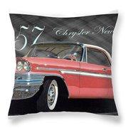 1957 Chrysler New Yorker Throw Pillow