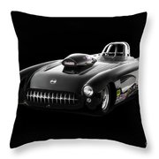 1957 Corvette Drag Car Throw Pillow