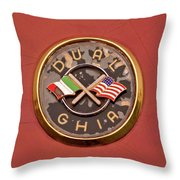 1957 Dual Ghia Convertible Coupe Emblem Throw Pillow
