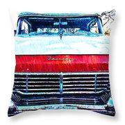 1957 Ford Fairlane Throw Pillow