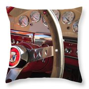 1957 Ford Fairlane Steering Wheel Throw Pillow