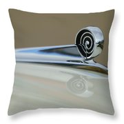 1957 Ford Hood Ornament Throw Pillow