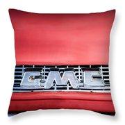 1957 Gmc Pickup Truck Grille Emblem -0329c1 Throw Pillow