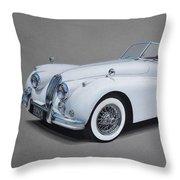 1957 Jaguar Xk140 Throw Pillow