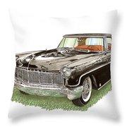 1957 Lincoln Continental Mk II Throw Pillow