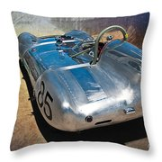 1957 Lotus Eleven Le Mans Throw Pillow