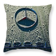 1957 Mercedes Benz 300sl Roadster Emblem Throw Pillow by Jill Reger