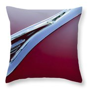 1957 Oldsmobile Hood Ornament 2 Throw Pillow
