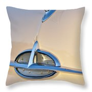 1957 Oldsmobile Hood Ornament 7 Throw Pillow