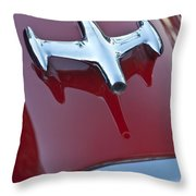 1957 Oldsmobile Hood Ornament Throw Pillow