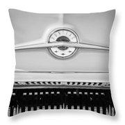 1957 Pontiac Safari Emblem -0737bw Throw Pillow