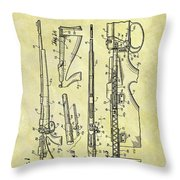 1957 Rifle Patent Throw Pillow