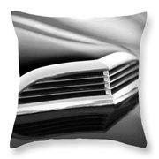 1957 Thunderbird Scoop Black And White Throw Pillow